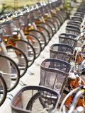 Public use bicycles Royalty Free Stock Photography