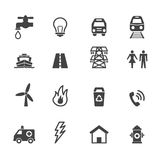 Public utility icons Royalty Free Stock Photos