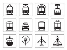 Public vehicles icons set Stock Image