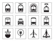 Public vehicles icons set. Vector illustration Stock Image