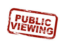 Public viewing. A stylized red stamp symbolizing public viewing. All on white background Royalty Free Stock Photography