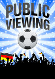 Public viewing flyer - blue Stock Images
