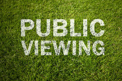 Public viewing text Royalty Free Stock Photos
