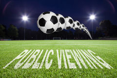 public viewing text Royalty Free Stock Photography