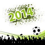 Public viewing 2014. On white Royalty Free Stock Photos