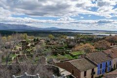 Public village of granadilla in caceres royalty free stock image