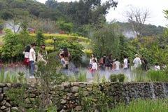 Public visit dapingshan hill park Stock Images