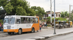 Public vs Private Transportation in Cuba Stock Photos