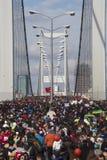 Public walk of 35. Istanbul Marahone Royalty Free Stock Photos
