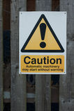 Public warning sign Stock Photography