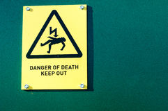 Public warning signs. Signs placed to warn the public of hazards or to give specific orders Royalty Free Stock Images