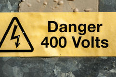 Public warning signs Stock Images