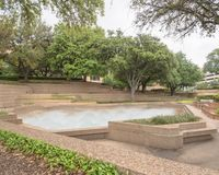 Public Water Gardens park in Fort Worth, Texas, USA royalty free stock photos