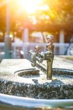 Public water tap in Japan. stock photography
