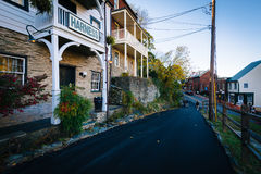 Public Way, in Harpers Ferry, West Virginia. Royalty Free Stock Photos