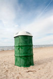 Public WC on the Beach Royalty Free Stock Images