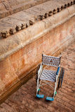 Public wheelchair. Brihadishwarar Temple entrance Stock Photography