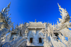 Public white temple with blue sky background Royalty Free Stock Photo