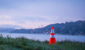 Public Works Cone Sunrise Stock Image