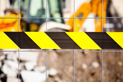 Public works zone. Restricted area. Royalty Free Stock Images