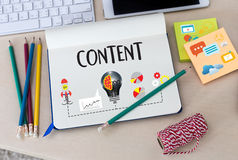 a publicação Blogging dos meios dos dados satisfeitos do índice do mercado informa foto de stock royalty free