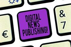 Publicação da notícia de Digitas do texto da escrita da palavra Conceito do negócio para o relatório eletrônico da transmissão da foto de stock