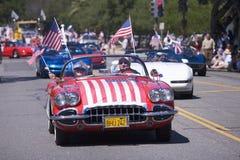 Publicación anual 4ta del desfile de julio en Ojai Fotos de archivo libres de regalías