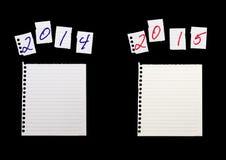 Publicación anual, comparación del año Contabilidad, negocio, financiero, econom Foto de archivo