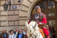 Publicación anual de los participantes del día nacional y festivo polaco Foto de archivo libre de regalías