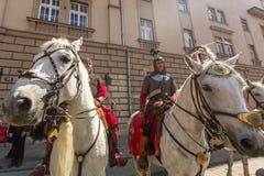 Publicación anual de los participantes del día nacional y festivo polaco el día de la constitución del 3 de mayo Foto de archivo