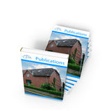 Publications. 3d render of a magazine with a house on title Royalty Free Stock Photos