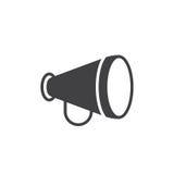 Publicidad, aviso, vector del icono del megáfono Fotos de archivo