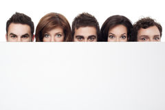 Publicidad con las caras divertidas Fotos de archivo libres de regalías