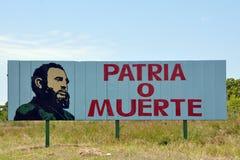 Publicidad cubana del gobierno Imágenes de archivo libres de regalías
