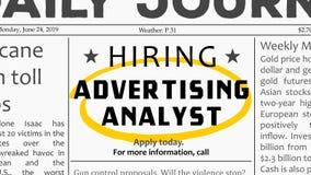 Publicidad de carrera del analista stock de ilustración