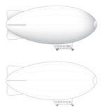 Publicidad de illus del vector del dirigible no rígido Imágenes de archivo libres de regalías