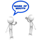 Publicidad de la boca a boca Fotografía de archivo
