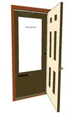 Publicidad de la puerta Imágenes de archivo libres de regalías