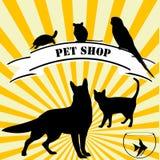 Publicidad de la tienda de animales ilustración del vector