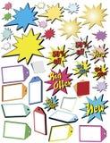 Publicidad de las estrellas y de las banderas libre illustration