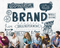 Publicidad de marcado en caliente de la marca concepto del márketing comercial fotografía de archivo