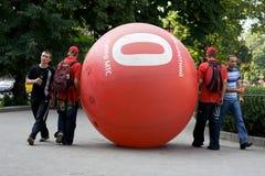 Publicidad de MTS en Lviv 2009 Fotos de archivo libres de regalías