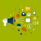 Publicidad de un megáfono Foto de archivo libre de regalías