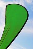 Publicidad de verde de la bandera Imagen de archivo