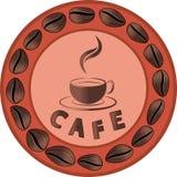 Publicidad del café Fotografía de archivo