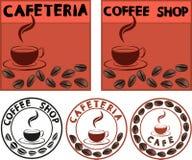 Publicidad del café Foto de archivo libre de regalías