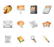 Publicidad del conjunto del icono Imagen de archivo libre de regalías