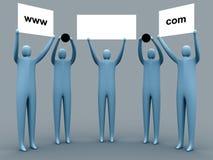 Publicidad del dominio ilustración del vector