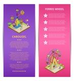 Publicidad del parque de atracciones con el espacio para el texto ilustración del vector