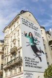 Publicidad del Partido Verde de Austria con lema fotos de archivo libres de regalías